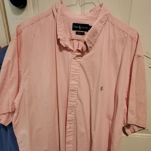 Polo pink short sleeve button up